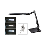 Black LED Lamp with Double-Reach Clamp 13.127