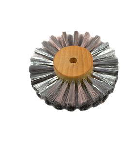 """Straight Steel Wire Brush, 3"""" X 3 rows, 16.459"""