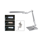 Silver LED Lamp with Double-Reach Clamp 13.128