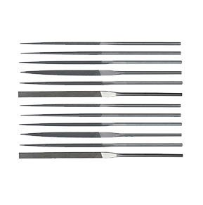 Teborg Needle File Set of 12, Medium Cut, 33.908