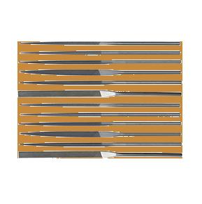 Teborg Needle File Set of 12, Medium Cut, 33.908
