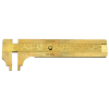 Brass Sliding Gauge, 100mm capacity, 35.0204A