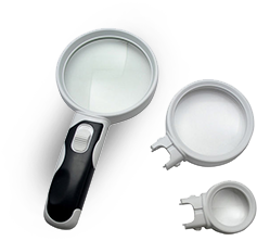 LED Interchangeable Lens Magnifier